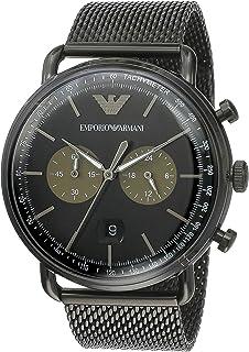 Emporio Armani Chronograph Black Stainless Steel Men's Watch - AR11142