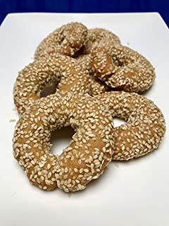 Dairy-free Sesame Hand Made Traditional Greek Cookies (16 oz)