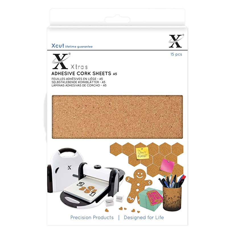 DOCrafts XCU174403 Xcut Xtra A5 Adhesive Cork Sheets (15 Pack), Brown
