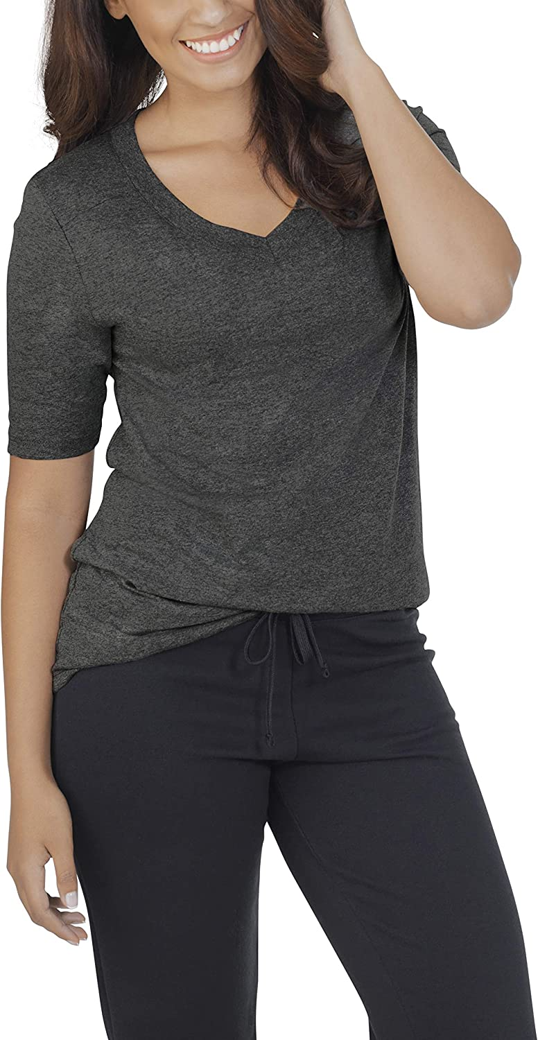 Fruit of the Loom Women's Essentials French Terry Pants and Tri-Blend Tees