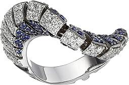 Ventaglio 18k Gold/Diamond/Sapphire Ring