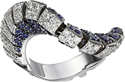 Miseno Ventaglio 18k Gold/Diamond/Sapphire Ring