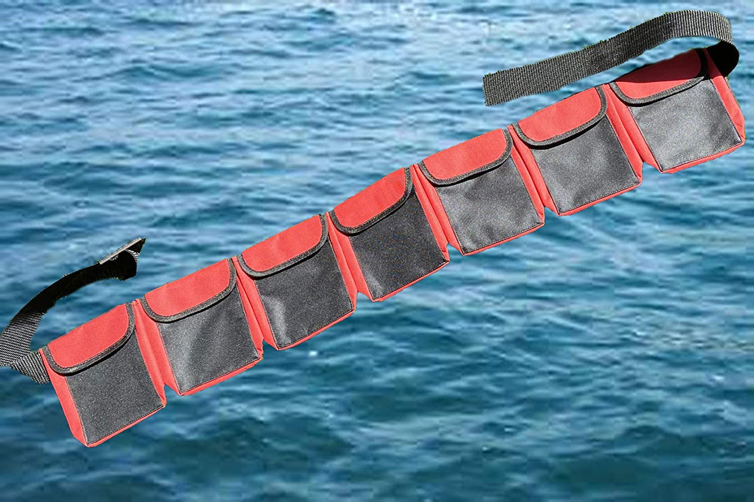 AKM-Diving pocket weight Max 67% OFF belts x red large New product type