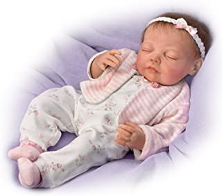 Dream Big, Little One Breathes and has a Heartbeat With Hand-Rooted Hair - So Truly Real Lifelike, Interactive & Realistic Newborn Baby Doll 19-inches by The Ashton-Drake Galleries