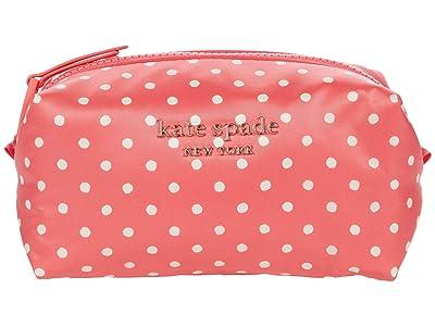 Kate Spade New York Everything Puffy Dots Cosmetics Medium Cosmetic (Peach Melba Multi) Handbags