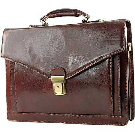 modamoda de - A009 - ital. Business Laptop Akten Tasche Leder