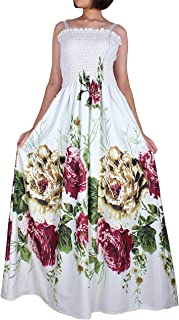 The WomenLand Women Plus Size Maxi Dress Floral Boho Summer Evening Party Casual Long Dress