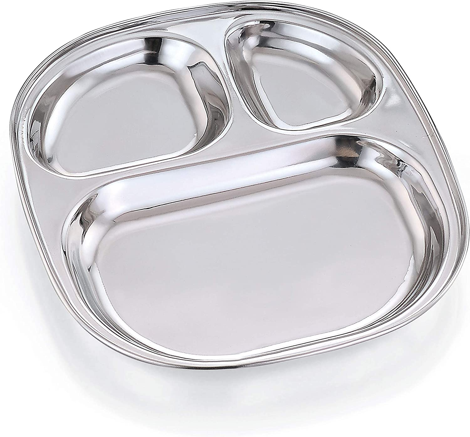 Expresso - Heavy Duty Stainless Steel Oval 3 Large special price !! Sections Plate Popular products with