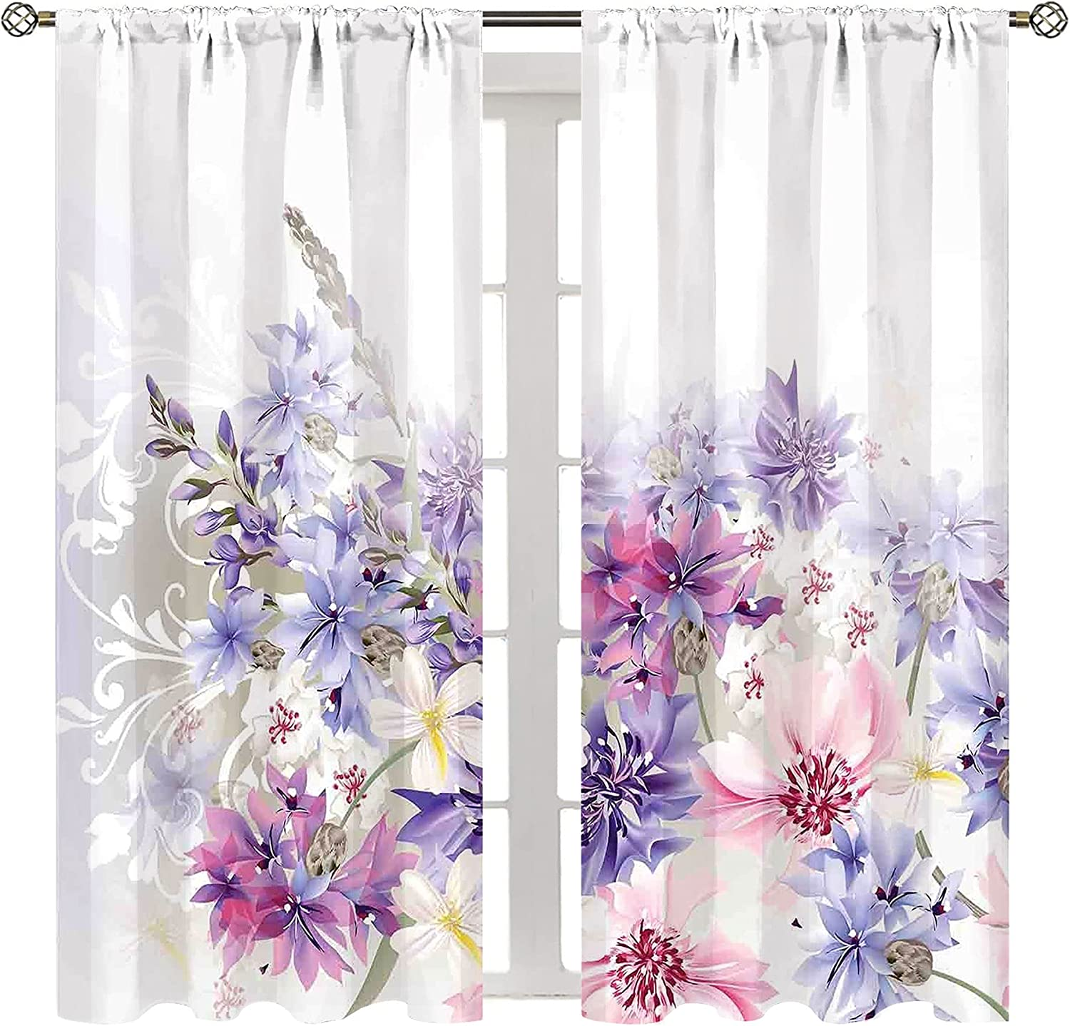 Ranking TOP3 HSERNED Cold and Ranking TOP19 Heat Drapes Lavenderastel Blocking Cornflowers
