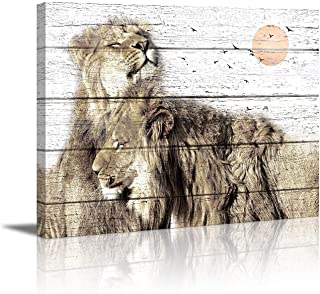lion painting abstract