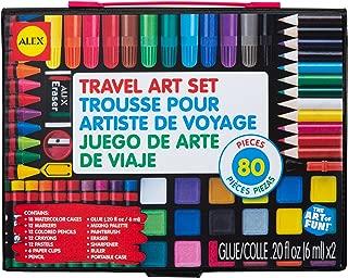 Alex Artist Studio Travel Art Set with Carrying Case Kids Art Supplies