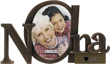 إطار صورة للأم ذات النصوص البرونزية من مالدن مع فتحة واحدة 8x5x0.7 inches 5317-10