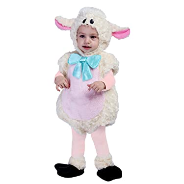 Spooktacular Creations Baby Lovely Lamb Costume Deluxe Infant Set for Halloween Trick or Treat Dress Up