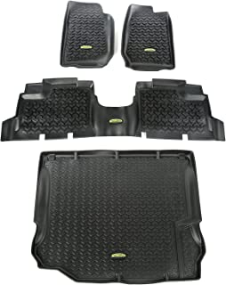 Outland 391298804 Black Front, Rear and Cargo Floor Liner Kit For Select Jeep Wrangler Unlimited Models