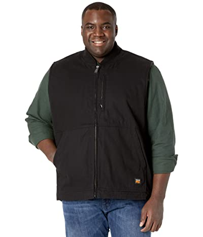 Timberland PRO Extended Gritman Lined Canvas Vest (Jet Black) Men