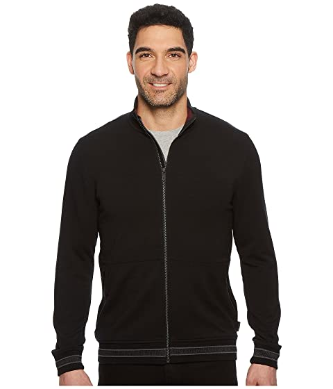 redondo cuello manga cremallera negro con completa camiseta Ted Baker Collie larga de con qTgHxvIwP