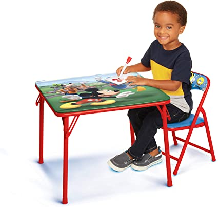 Amazon Com Disney Junior 45704 Mickey Juego De Mesa Y Silla Para Niños De 2 A 5 Años Toys Games