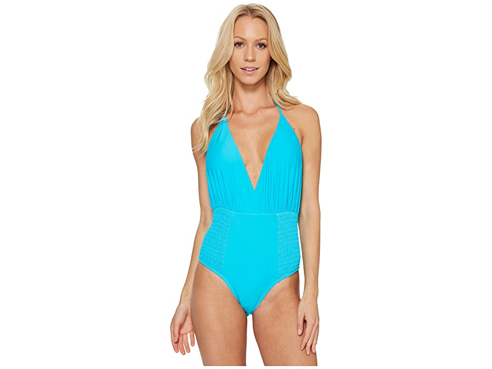 Image of 6 Shore Road by Pooja Coast One-Piece (Scuba Turquoise) Women's Swimsuits One Piece