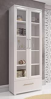Accentuations by Manhattan Comfort -MC Serra Bookcase 1.0, White