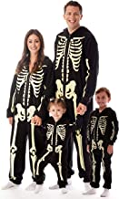 #followme Glow in The Dark Skeleton Jumpsuit Pajamas Family Sleepwear