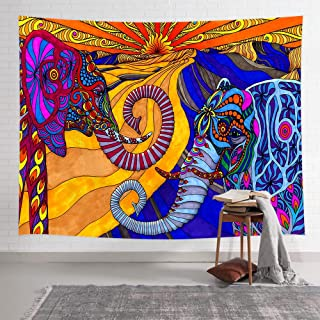 NYMB Mandala Elephant Tapestry, Colorful Bohemian Mountain Animal Psychedelic Elephant Boho Tapestry Wall Hanging, Trippy Art Tapestriest Wall Art Decor for Bedroom Living Room Dorm, 60X40 Inches
