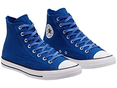 Converse Chuck Taylor All Star Slub Canvas Hi (Game Royal/Lemongrass/White) Shoes