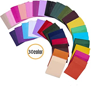 6000pcs 1.96inch Tissue Paper Squares, 30 Assorted Colors for Arts Craft DIY Scrapbooking Scrunch Art Embellishments School Supplies