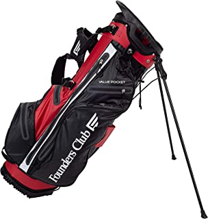 Founders Club Waterproof Golf Stand Bag Ultra Dry for Rainy Days on The Golf Course Light Weight 14 Way Full Length Divider with Dual Padded Carry Strap