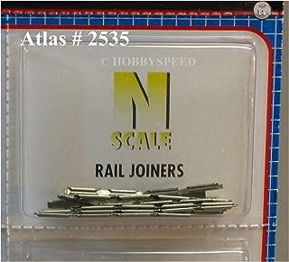 ATLAS N SCALE CODE 80 RAIL JOINERS SNAP TRACK 48 PCS connectors atl 2535