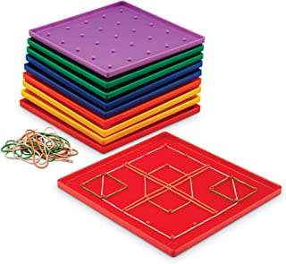 Learning Resources Classpack Geoboards, 7 Inches, Set of 10