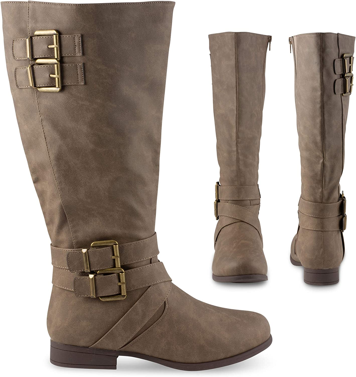Twisted Chloe Micro Suede In a popularity Knee High Boots L Wide for Topics on TV Women Calf