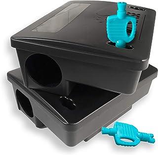 Kat Sense Rat Bait Station Traps, Reusable Humane Rodent Box Against Mice Chipmunks N Squirrels That Work, Smart Tamper Pr...