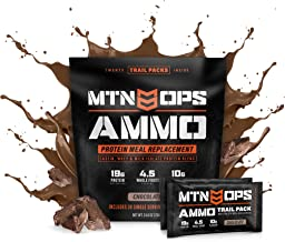 MTN OPS Ammo Trail Packs Protein Meal Replacement Powder - 20 Servings, Chocolate