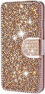 YMHML iPhone 11 Pro Case 5.8 Inch (2019) Wallet Case Glitter Diamond Bling Rhinestone Flip Case Magnetic Bright Crystal Protective Leather with Card Slot & Kickstand for iPhone XI Pro