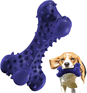HIKISS Dog Chew Toy for Aggressive Chewers,Dog Toothbrush Chew Toy Stick Non-Toxic Rubber Dog Bone Toy Safe Reduces Boredom