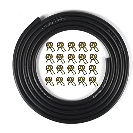 HobbyUnlimited Petrol Fuel Line Hose Tubing 0.08in ID x 0.14in OD x 16ft Length