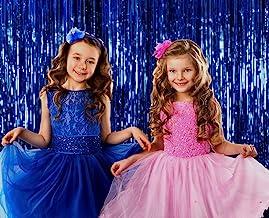 Royal Blue Foil Fringe Curtain 3 Ft x 8 Ft Pack of 2 Bridal and Baby Shower Mermaid Shark Sweet 16 Birthday Bachelorette E...