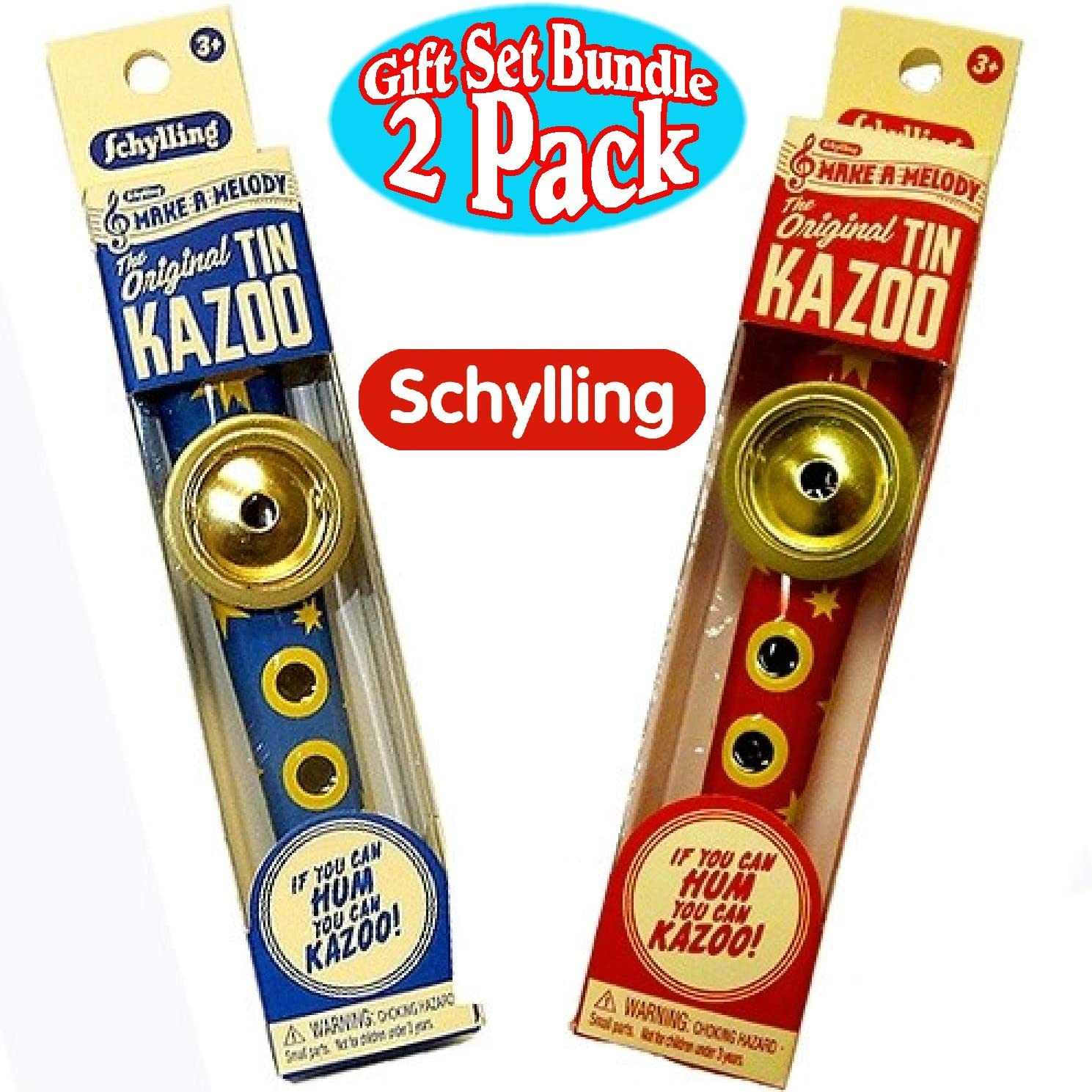 Schylling Musical Instruments Original Classic Japan's largest assortment Blue Ye NEW before selling Kazoo Tin