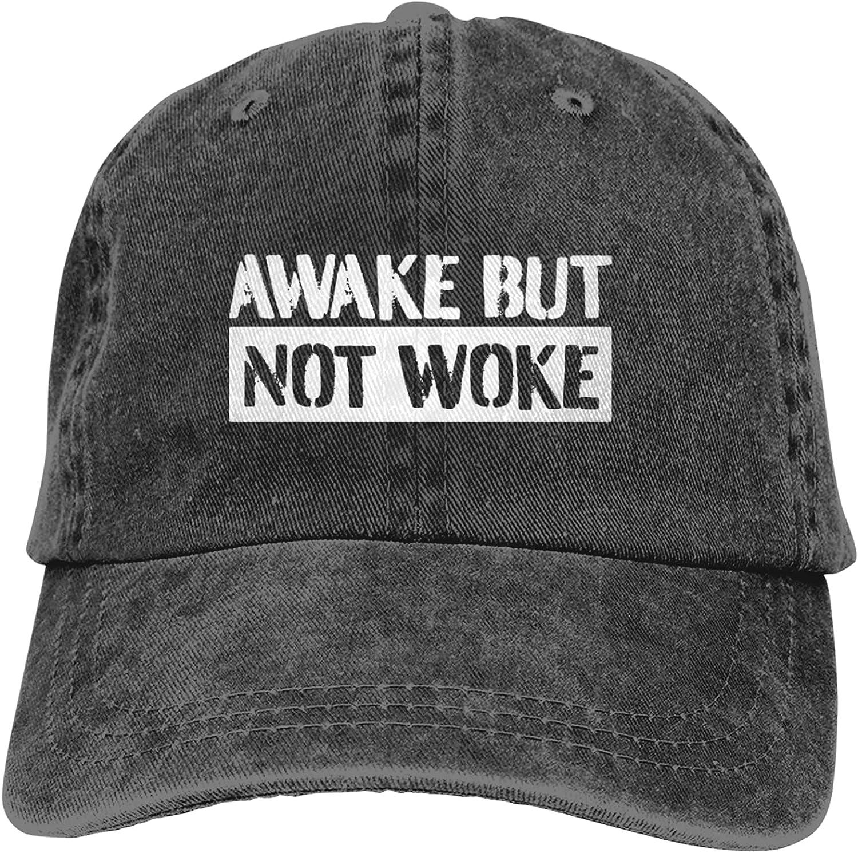 Awake But Not Woke(4) Baseball Cap Cotton for Women Adjustable Classic Dad Hat for Men