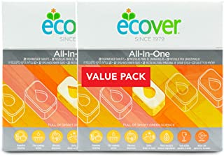 Ecover All-In One Dish Washer Tablets, 22ct, (Pack of 2)