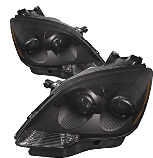 PERDE Compatible with GMC Acadia 2nd Gen Set Pair Headlights New Headlamps with Black Housing Clear Lens