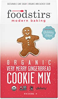 Foodstirs Organic, Non GMO Very Merry Gingerbread Cookie Mix, 23 Ounce (Pack of 3)