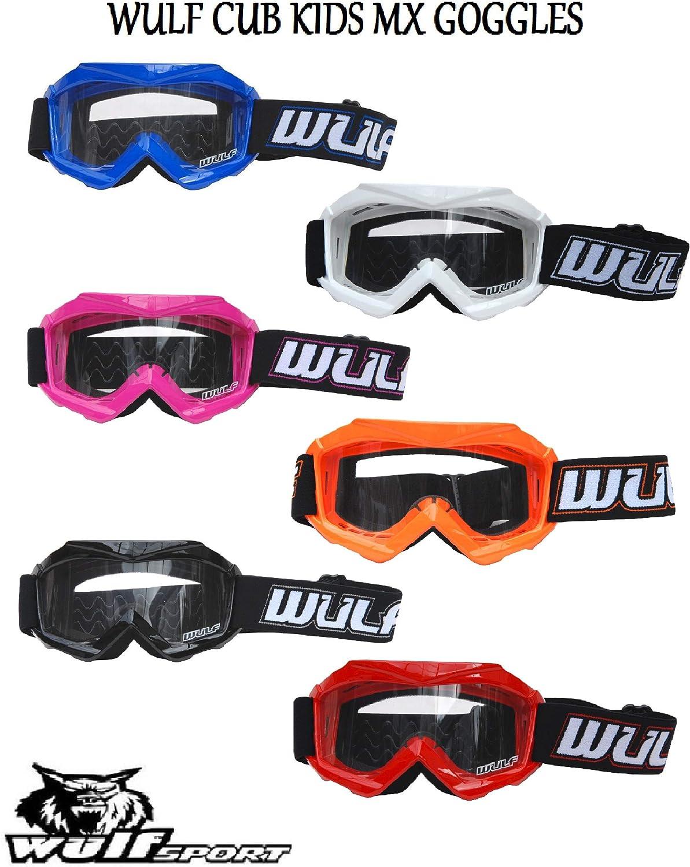Wulfsport Kinder Schutzbrille Geeignet Für Motorrad Motocross Quad Mx Atv Blau Sport Freizeit