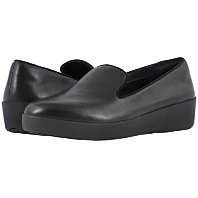 FitFlop Audrey Smoking Slippers (Black) Women