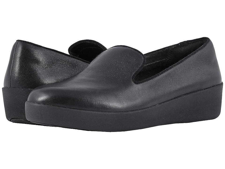 9d127a024a2ca8 FitFlop Audrey Smoking Slippers (Black) Women