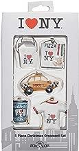 Kurt Adler 1.2-Inch to 1.5-Inch I Love NY Miniature Ornament Set, 5-Pack
