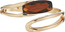 Robert Lee Morris Topaz and Gold Bypass Bracelet