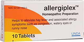 UNDA - Allergiplex - Homeopathic Remedy to Help Temporarily Relieve Symptoms of Seasonal Allergies* - 10 Tablets