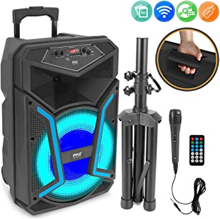 Portable Bluetooth PA Speaker System-1200W Outdoor Bluetooth Speaker Portable PA System w/Microphone in, Party Lights, MP3...