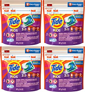 Tide Pods Laundry Detergent - Spring Meadow, 16 Pacs each (Value Pack of 4)